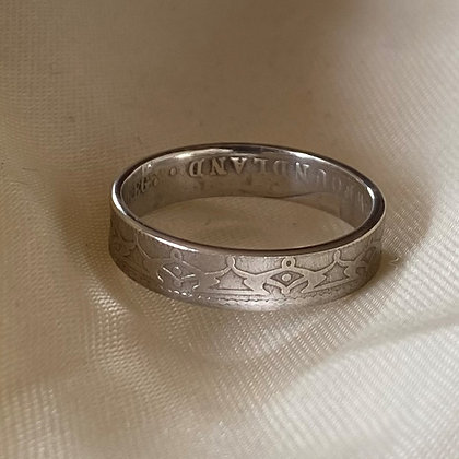 1865 Newfoundland 20 Cent Coin Ring