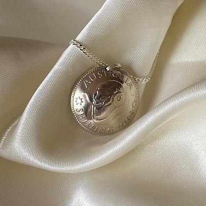 1960 Australian Shilling Pendant