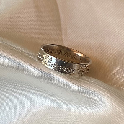 1935 Papua New Guinea Shilling Coin Ring