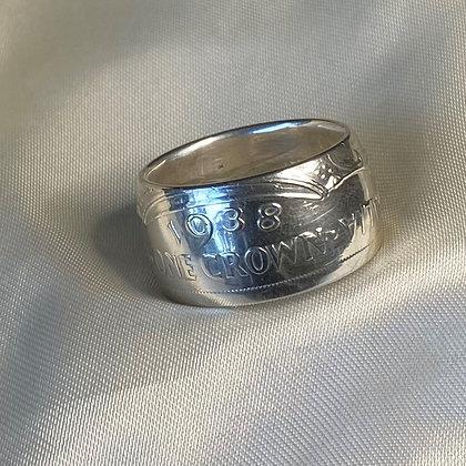 1938 Australian Crown Coin Ring