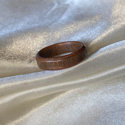 1897 City of Hobart Queen Vic 60Y Reign Coin Ring