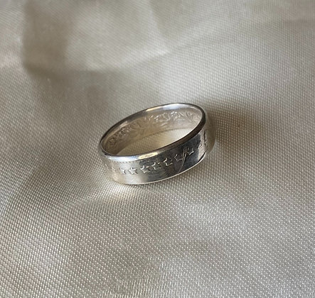 1960 Swiss Franc Coin Ring
