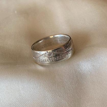 1927 Australian Florin Coin Ring