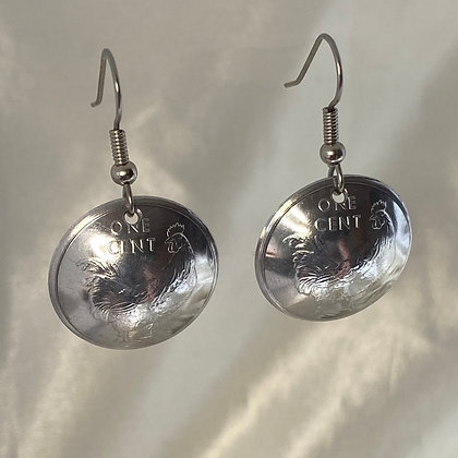 2003 Cook Islands 1 Cent Earrings