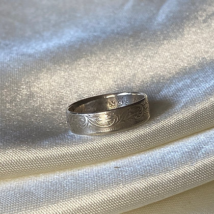 1900 Indian Quarter Rupee Coin Ring