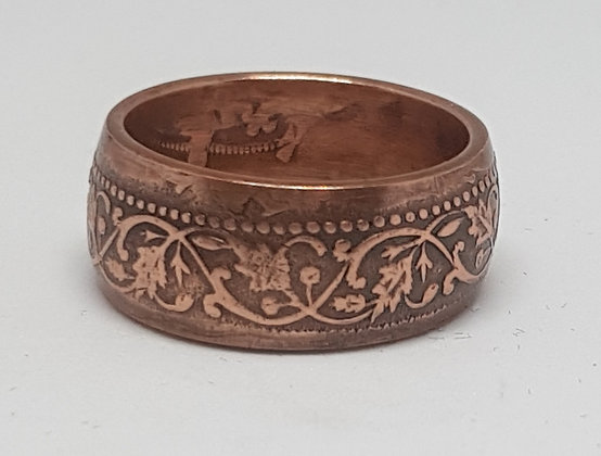 Indian 1/4 Anna Coin Ring