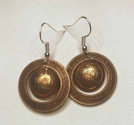 Australian Half Penny Earrings