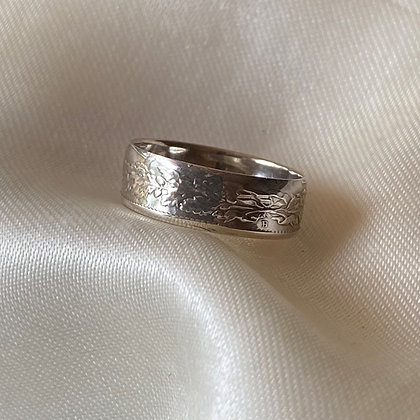 1962 Swiss Half Franc Coin Ring
