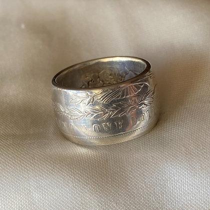 1897 US Morgan Dollar Coin Ring