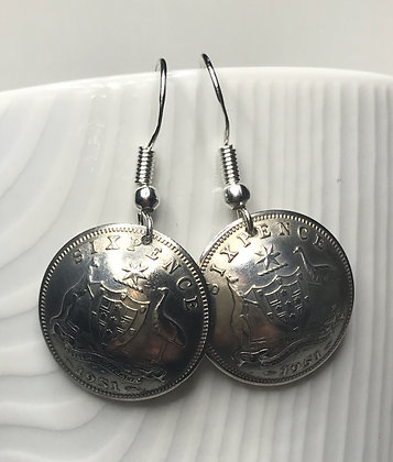 Australian Sixpence Earrings