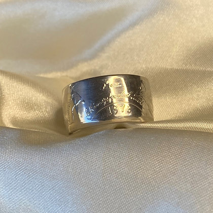 1978 Samoa Tala 1 Dollar Coin Ring