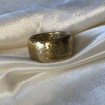 1882 US Morgan Dollar Coin Ring