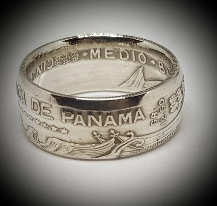 Panama Half Balboa Coin Ring