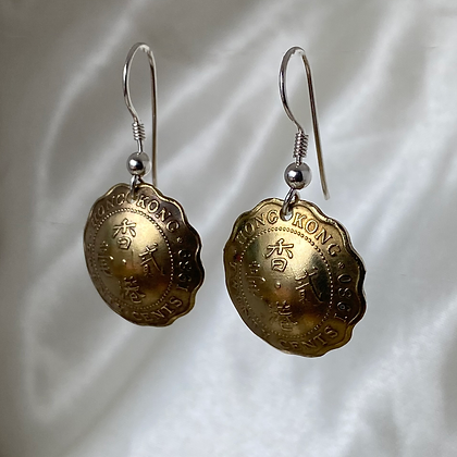 1980 and 1989 HongKong 20 Cent Earrings