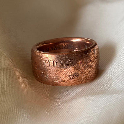 1830 Australian Retro Crown Coin Ring