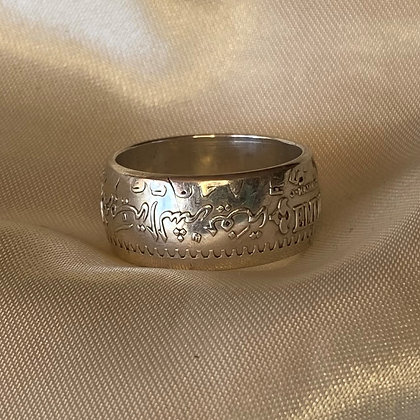 1956 Moroccan 500 Francs Coin Ring