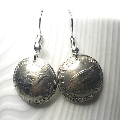 New Zealand Sixpence Earrings