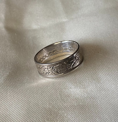 1970 Swiss Franc Coin Ring