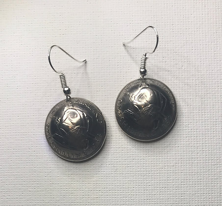 New Zealand Shilling Earrings