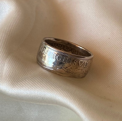 1936 Papua New Guinea Shilling Coin Ring