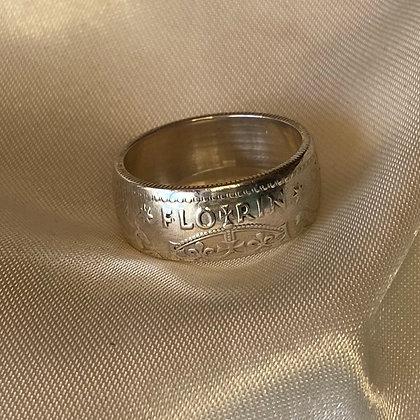1942 Australian Florin Coin Ring