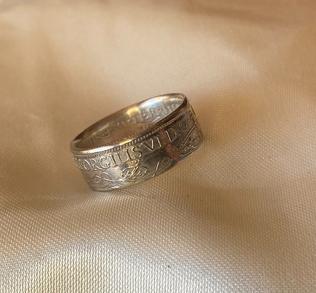 1938 Papua New Guinea Shilling Coin Ring