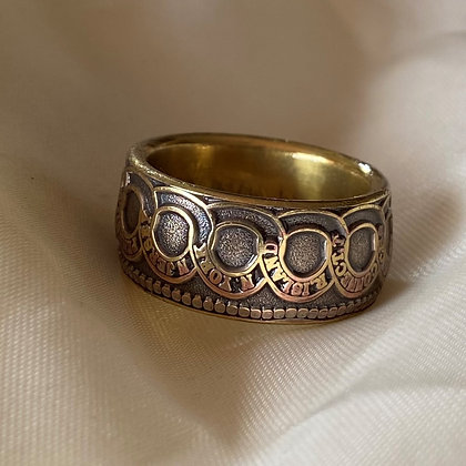 1776 US Continental Currency Replica Coin Ring