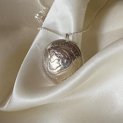 1961 Australian Shilling Pendant