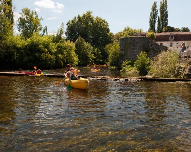 Canoeing near Brantome