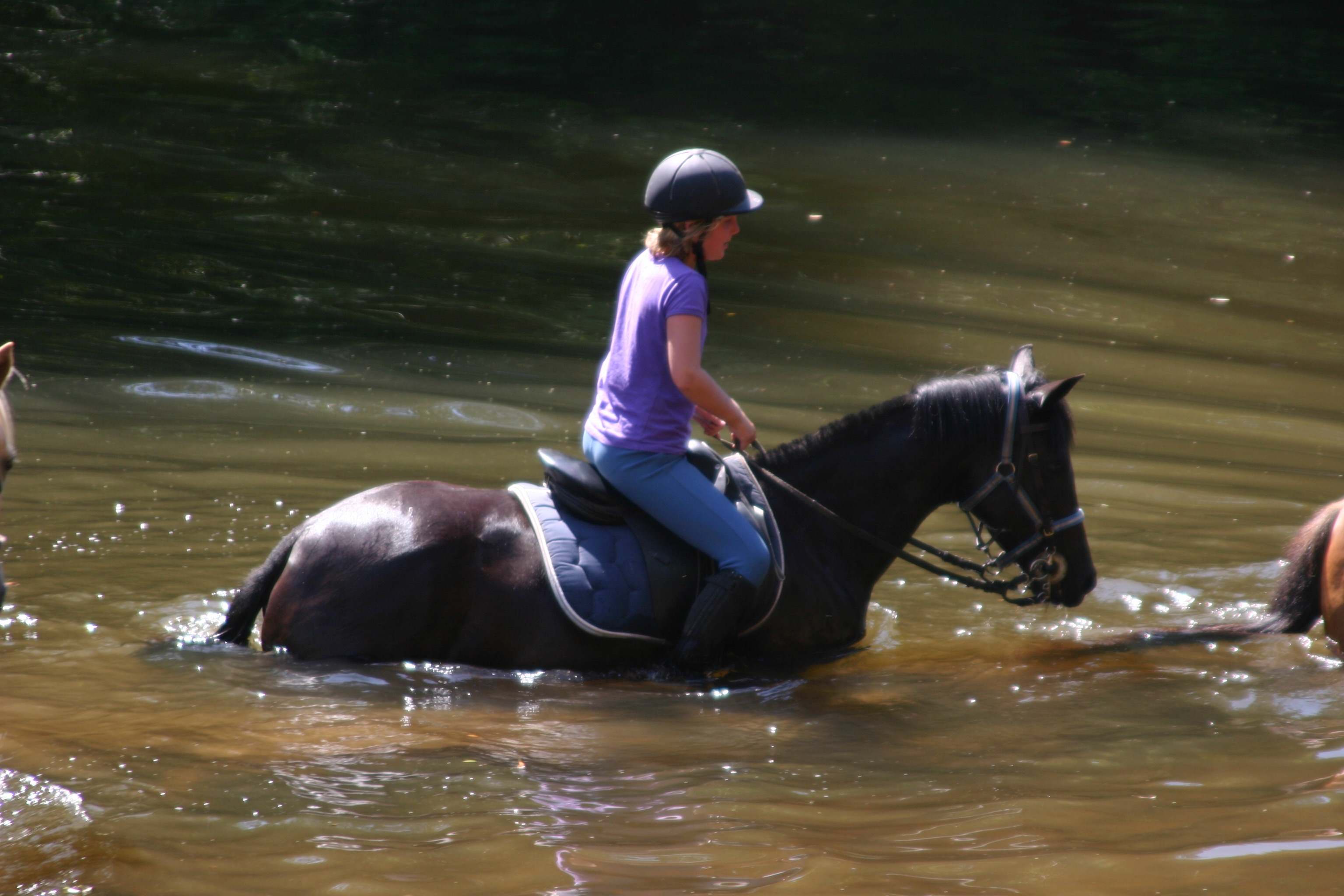 Riding through the Vezere River