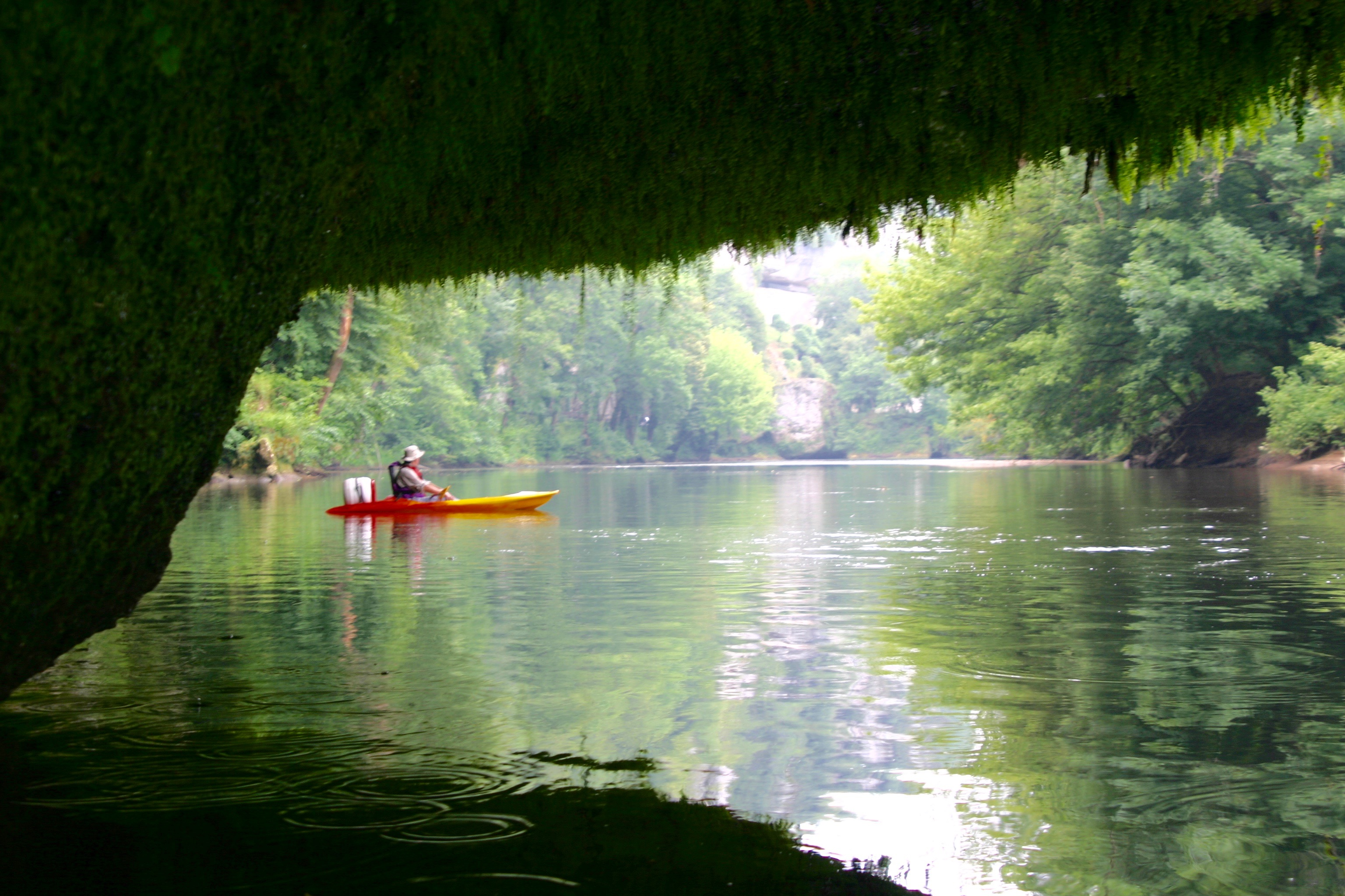 Canoeing on the Vezere River