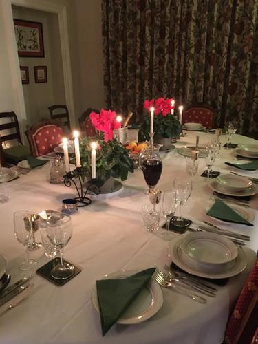 Set for formal dining