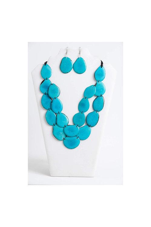 Amoya Necklace Set | Turquoise Blue