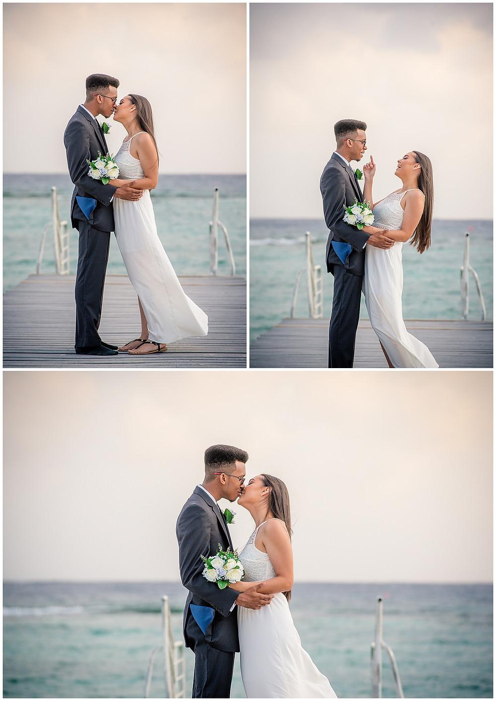 Marshanni and Jerome Cayman Wedding Photography - Spott's Public Beach Deck