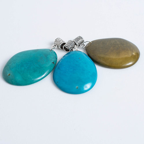 Tagua Pendants (add your own findings)