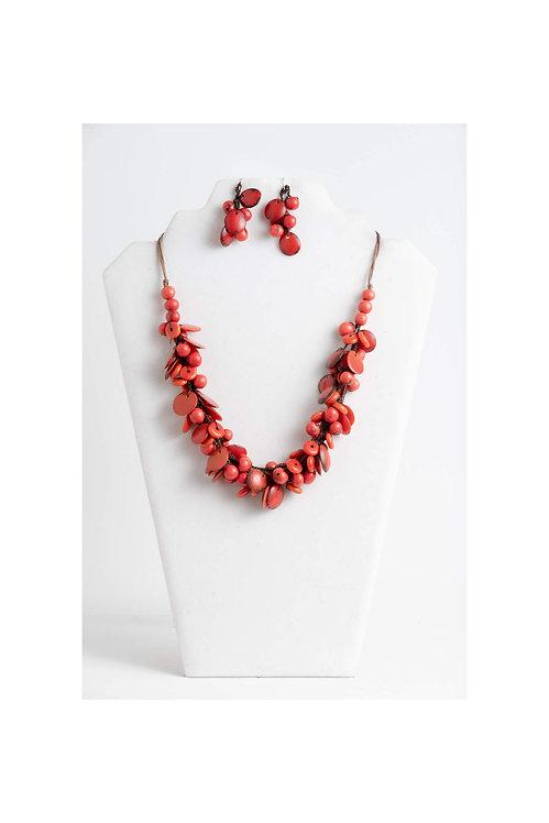 Sky Necklace Set | Burnt Orange