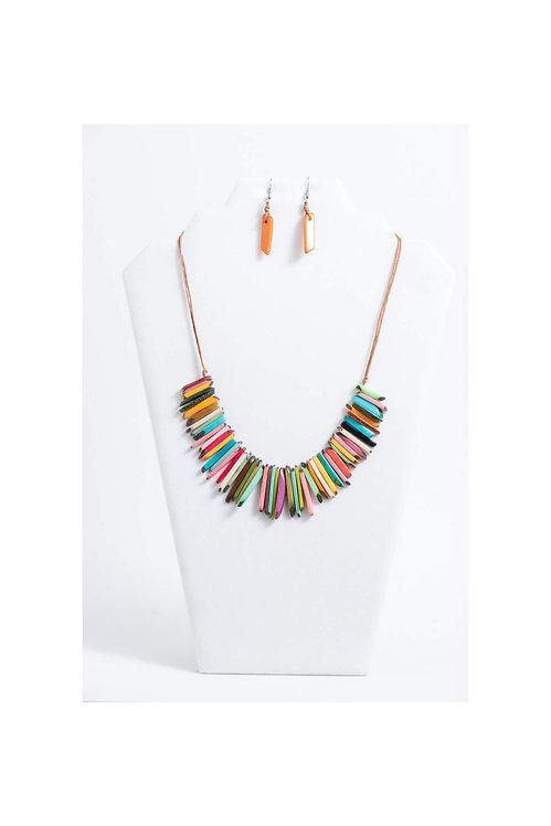 Macaw Necklace Set   Multi