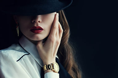 lady with watch