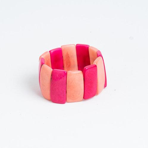 pink chunky handmade bracelet