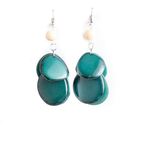 jade green tagua nut earrings