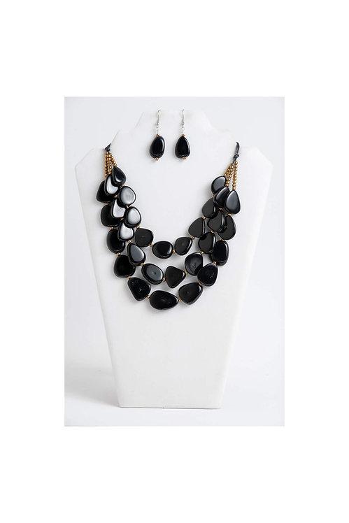 Zaley Necklace Set | Black