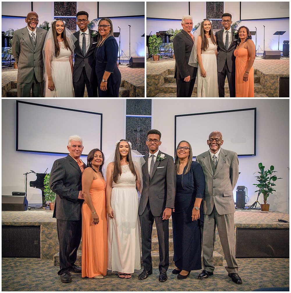 Marshanni and Jerome Cayman Wedding Photography - With Parents