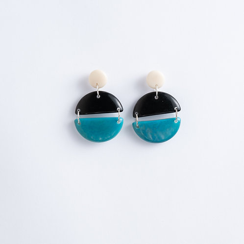 Limited Edition Tagua Earrings | Blue & Black