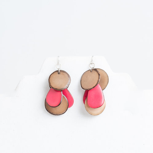 Calypso Earrings | Pink & Beige