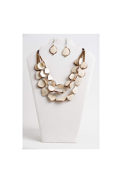 Zaley Necklace Set | Ivory