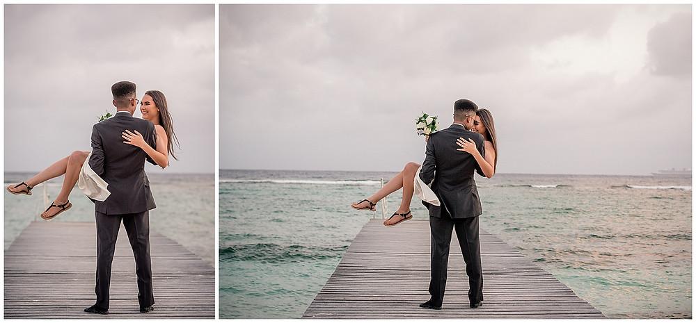 Marshanni and Jerome Cayman Wedding Photography - Spott's Beach Dock