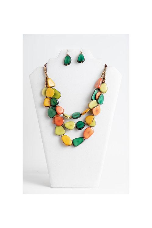multicolored tagua jewelry