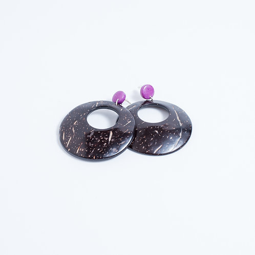 Tagua-Coconut Hoops