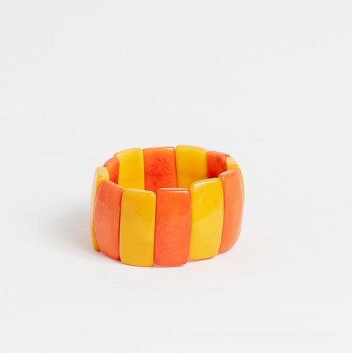 yellow & orange tagua bracelet