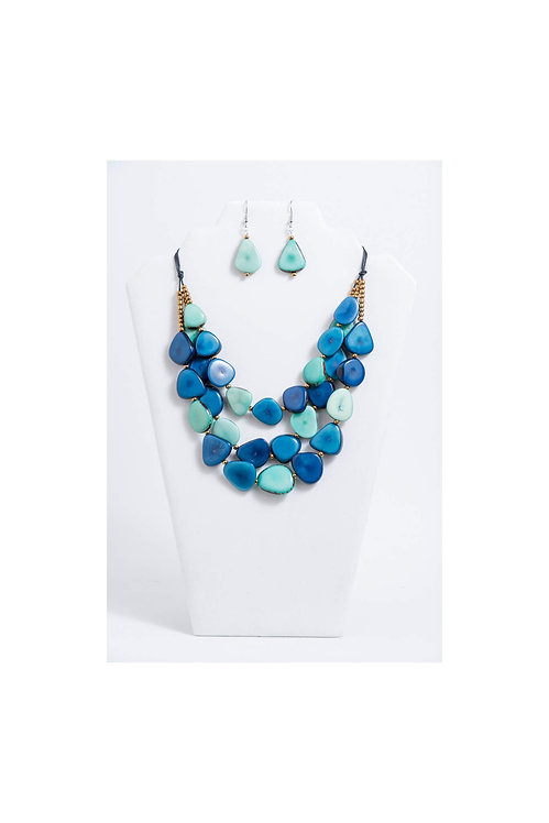 Zaley Necklace Set | Tones of Blue